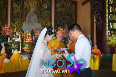 Lễ cưới theo nghi thức Phật giáo của ca sỹ Mỹ Dung 13
