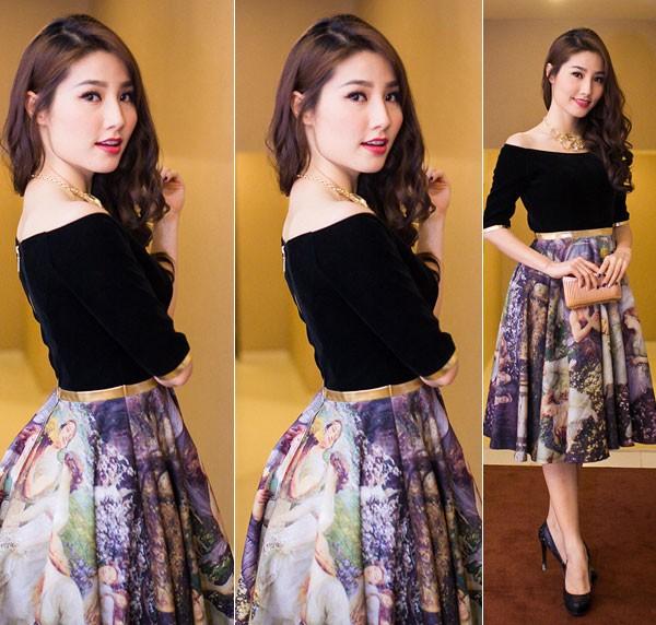 Kiều nữ Việt xinh lung linh với dáng váy xoè 3