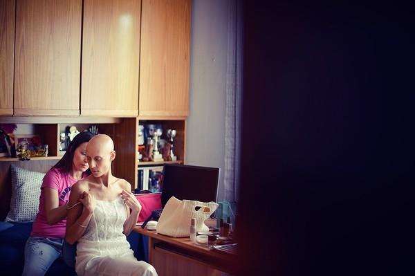 Cô dâu bị ung thư đẹp ngỡ ngàng trong ngày cưới 3