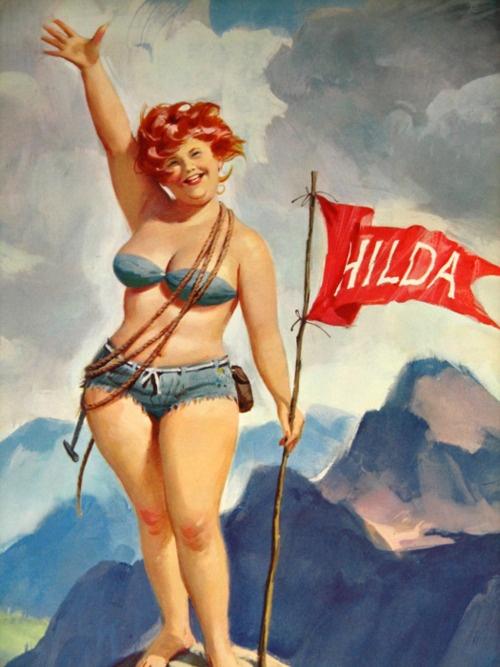 """Cư dân mạng thích thú với bộ tranh vẽ nàng béo """"sexy"""" Hilda 7"""