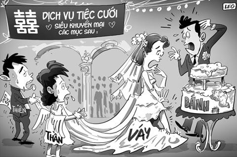 Vỡ tiệc cưới vì ham…khuyến mãi 1