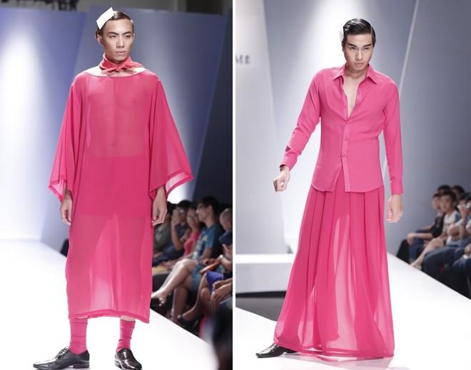 Khi người mẫu nam chuộng áo ren mỏng, váy xòe 3