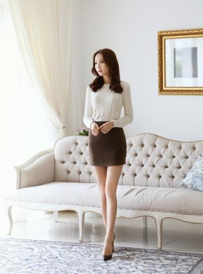 Điệu đà với mốt áo len nữ Hàn Quốc mùa thu 4