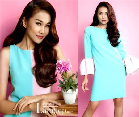 Sao Việt quyến rũ với váy suông 10