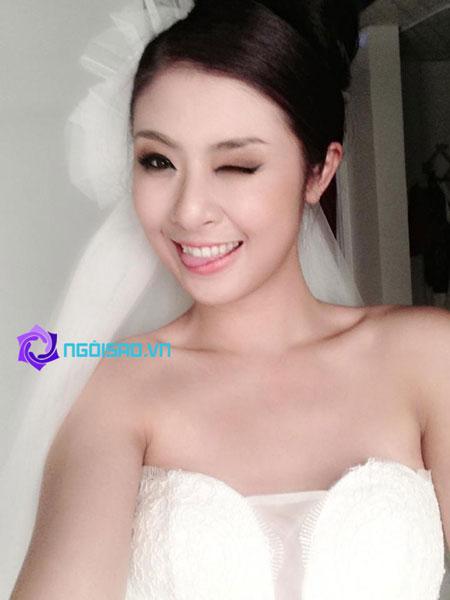 HH Ngọc Hân tung ảnh cô dâu khiến dân mạng xôn xao 2
