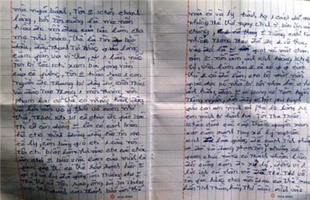 Lá thư dài 2 trang viết trong đêm của mẹ cháu bé bị hành hạ 1