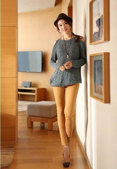 Điệu đà với mốt áo len nữ Hàn Quốc mùa thu 12
