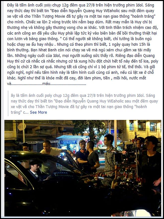Ông xã Phạm Quỳnh Anh bị tai nạn ô tô 2
