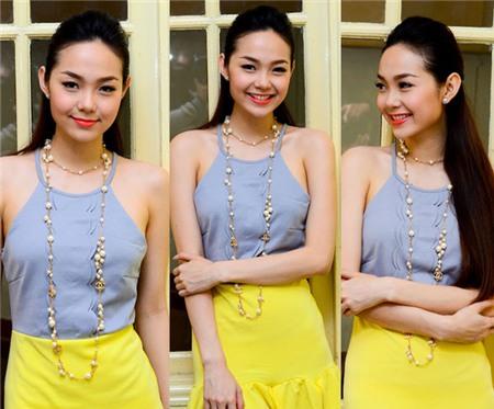 Ngắm phong cách thời trang ngọt ngào của Minh Hằng 5