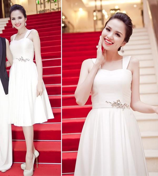 Kiều nữ Việt đẹp mong manh váy trắng 5