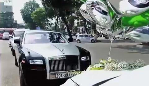 Siêu xe Rolls-Royce, Bentley dài cả phố rước dâu hotgirl 12