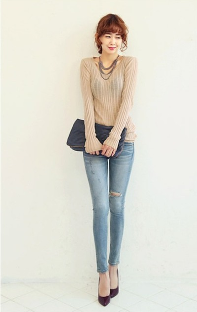 Điệu đà với mốt áo len nữ Hàn Quốc mùa thu 2