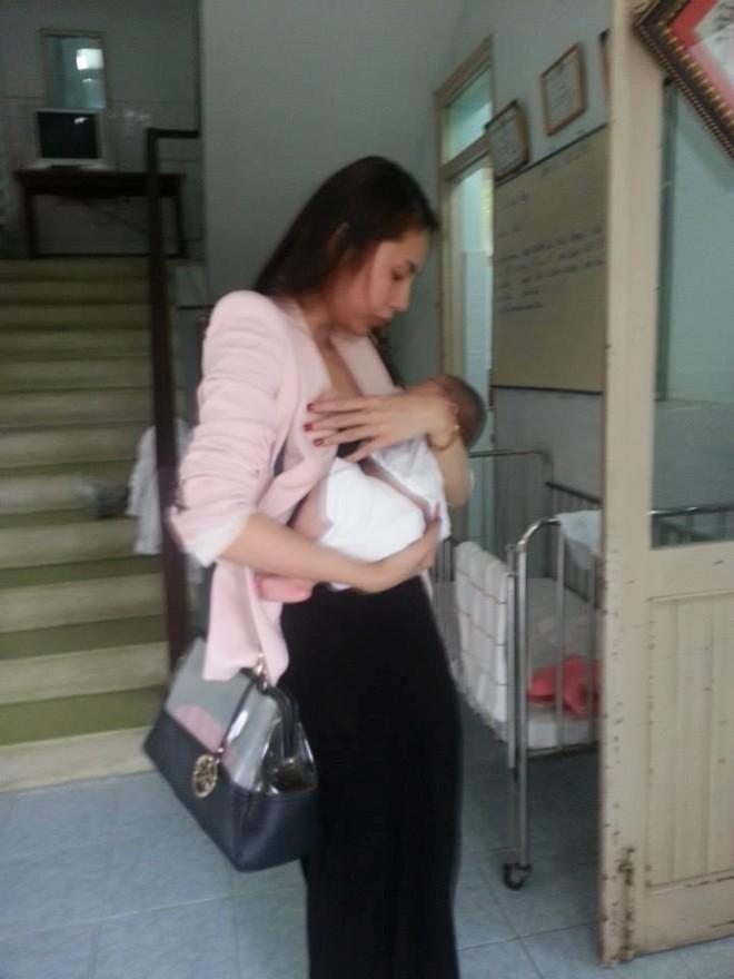 Thủy Tiên cùng fan tới thăm em bé bị bố bạo hành 11