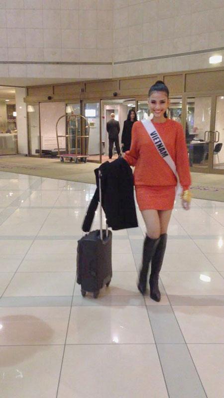Trương Thị May bị cảm lạnh và sốt cao tại Miss Universe 5