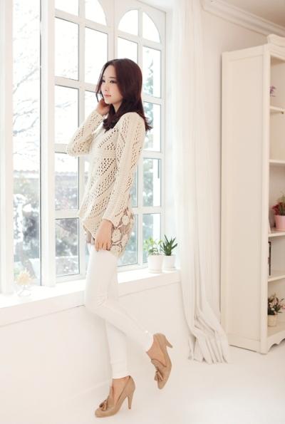 Điệu đà với mốt áo len nữ Hàn Quốc mùa thu 7