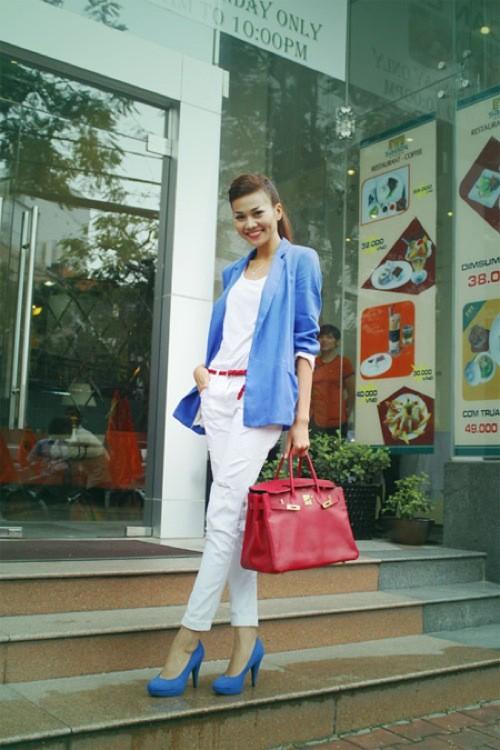 10 cách diện đẹp với blazer xanh 6