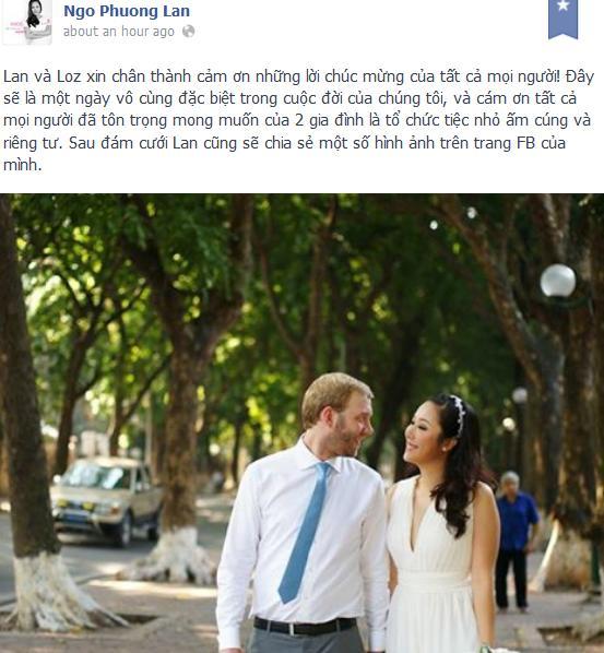 Ngô Phương Lan khoe ảnh cưới xinh đẹp bên chồng Tây 2