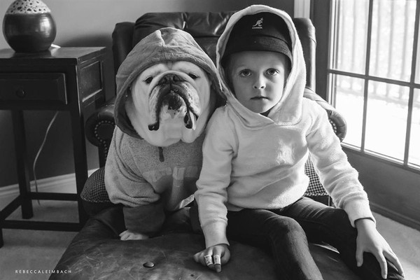 Tình bạn cực đáng yêu giữa cô bé 4 tuổi và chó cưng 14