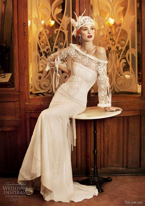 """10 váy cưới vintage """"trong mơ"""" cho cô dâu mùa thu 1"""