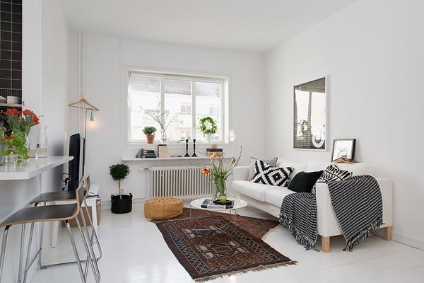 Ghé căn hộ 41m² trắng sáng mà không đơn điệu 2
