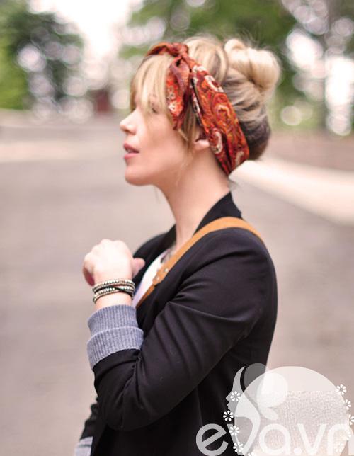 Tóc cực sành điệu với khăn Turban 9