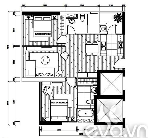 Ngắm căn hộ 80m² màu tím kiêu sa 20