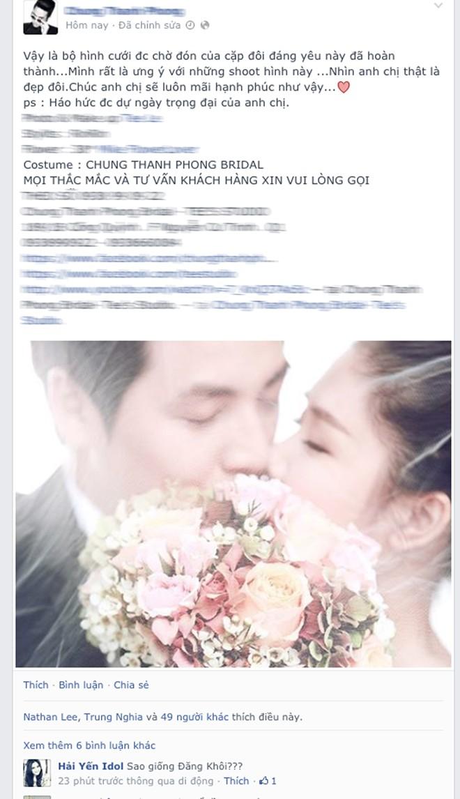 Lộ ảnh cưới đầu tiên của Đăng Khôi và vợ hot girl? 1