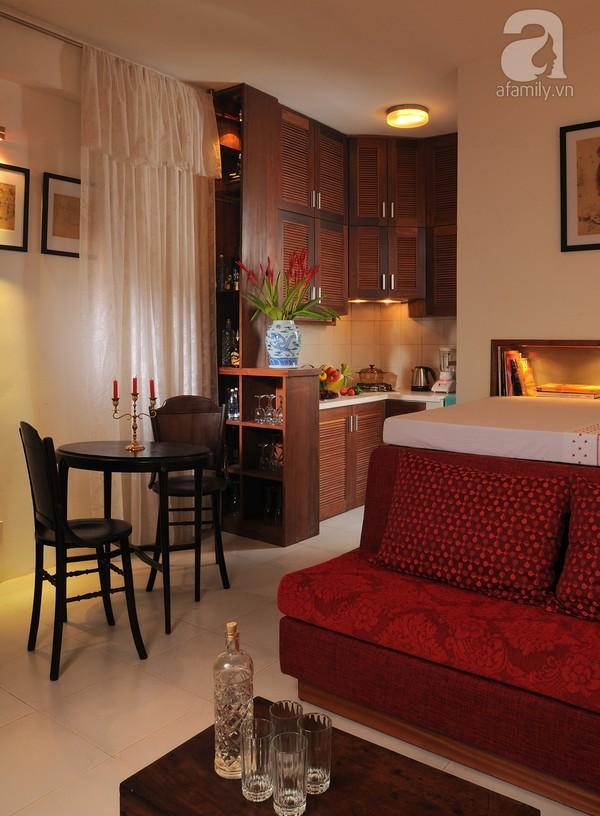 Ngắm căn hộ 22m² sử dụng đồ gỗ tái chế cực chất tại Phú Nhuận 11