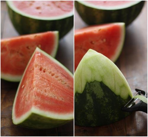 Lạ miệng dưa hấu ngâm chua ngọt 2