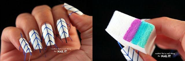 Tự vẽ móng tuyệt đẹp với băng dính, vải ren 18