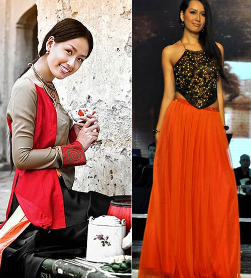 Tận mắt so sánh nhan sắc mỹ nhân Việt cùng diện áo yếm 5