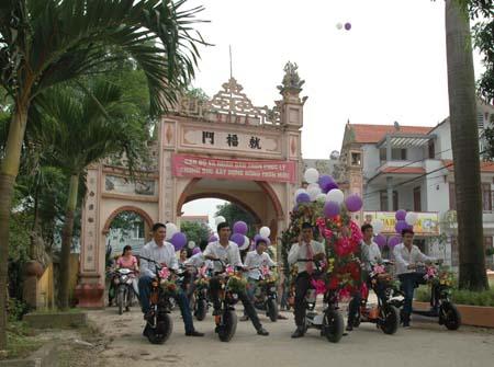 Hà Nội: Thú vị đám rước dâu bằng... xe đạp 2