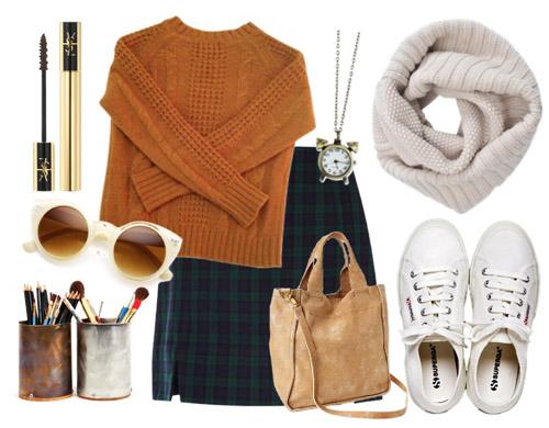 Phối đồ ấm và sành điệu với khăn len tròn 5