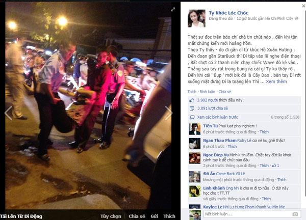 Tung tin 'chặt tay cướp iPhone 5' để câu like Facebook 1