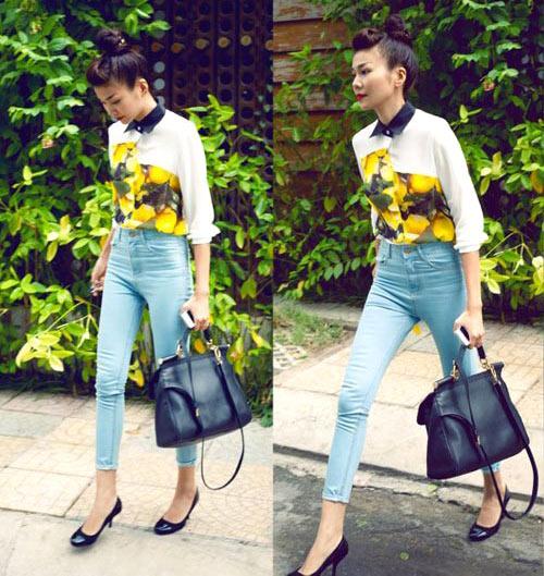 Thanh Hằng mặc jeans sành điệu 10