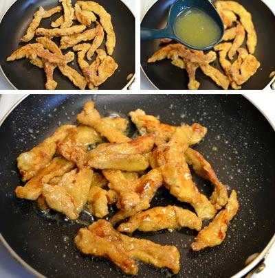 Chua ngọt thịt gà sốt chanh 11