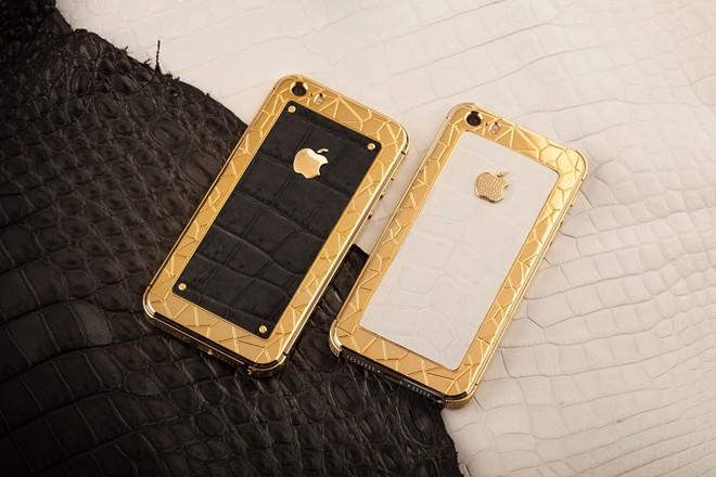 iPhone 5S mạ vàng bọc da cá sấu giá 35 triệu ở VN 2