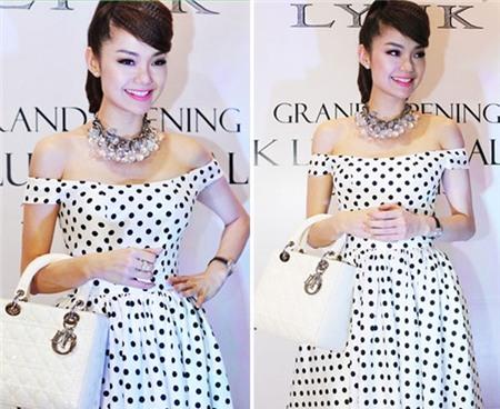 Ngắm phong cách thời trang ngọt ngào của Minh Hằng 6