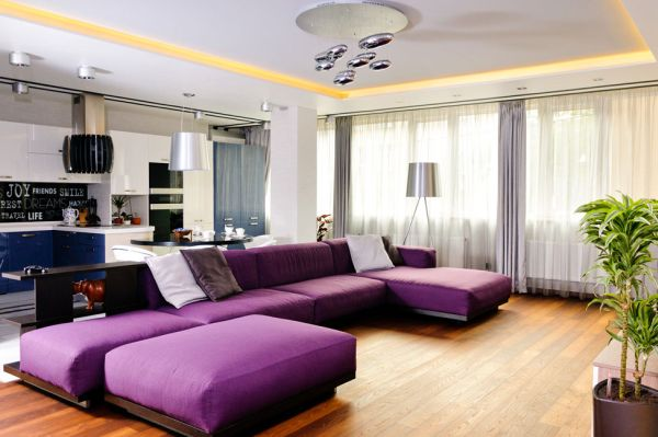 15 phong cách nội thất cho phòng khách rộng 12