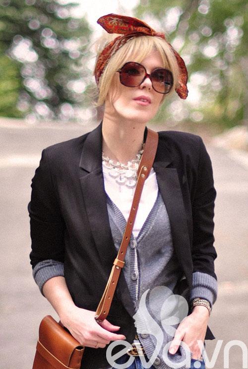 Tóc cực sành điệu với khăn Turban 16