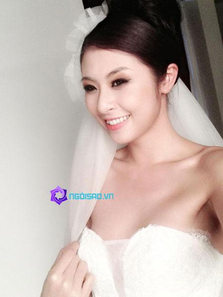HH Ngọc Hân tung ảnh cô dâu khiến dân mạng xôn xao 4