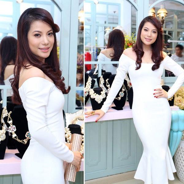 Kiều nữ Việt đẹp mong manh váy trắng 11