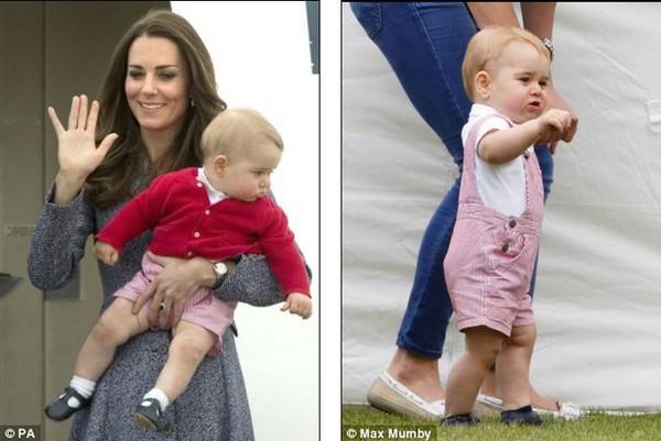 Lộ ảnh Hoàng tử bé nước Anh biết đi 2