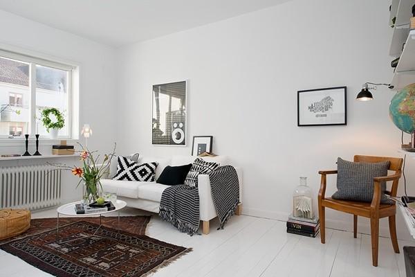 Ghé căn hộ 41m² trắng sáng mà không đơn điệu 3