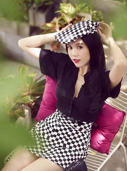 Sao Việt đua nhau diện váy ô bàn cờ 3