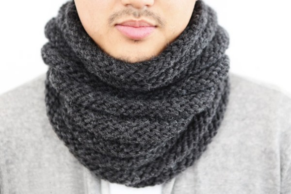 Hướng dẫn đan khăn ống cho chàng diện mùa đông 6