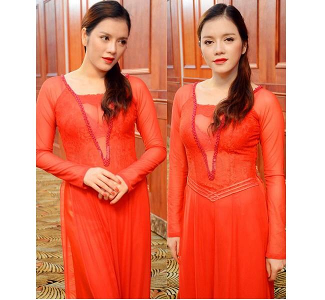 """Những bộ áo dài cách tân của sao Việt bị """"ném đá"""" 1"""