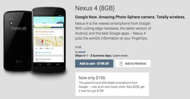 Điện thoại Nexus 4 gây sốc khi giảm giá chỉ còn 4 triệu đồng 1