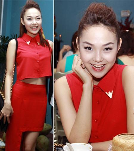 Ngắm phong cách thời trang ngọt ngào của Minh Hằng 2
