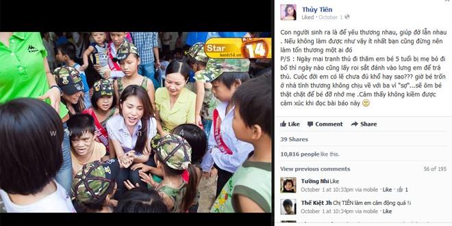 Thủy Tiên cùng fan tới thăm em bé bị bố bạo hành 1